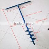low price metal manual post hole auger