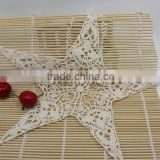 Embroidery Star Cotton Lace Applique For Garment Accessories