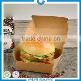 China factory Folding cardboard kraft box food paper fried chicken packaging lunch box