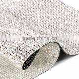 yiwu xiumao factory Rhineston Trims Iron On Transfer Design Mesh Strass Roll rhinestone Wedding