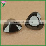 Factory price machine cut 8*8mm loose rough black nano heart shaped diamonds for sale