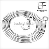 Women's Ladies Fashion 925 Sterling Silver Italian Snake Chain Necklace 0.8mm/1.0mm Width