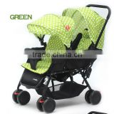 Popular design double baby stroller 2016 wholesale China