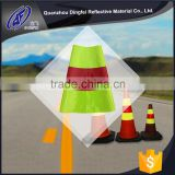 Fluorescent green and red printable collars traffic cone paper