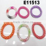 plastic spiral telephone cord hair accessories telephone wire hair band telephone line hair tie