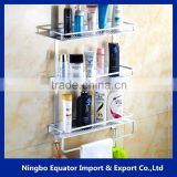 hot sale 3-tier Storage Holders Aluminum Wall Bathroom Rack/paper towel holder 12cm-wide