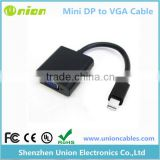 Black Mini Display Port DP to VGA Cable Adapter Converter For Macbook iMac Pro