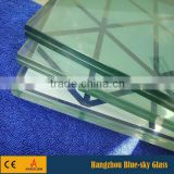 8+8mm laminated glass canopy for entrance