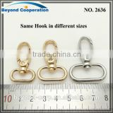 "3/4"" 3/8"" 1 1/4"" 1 3/4"" 1 inch 13mm 17mm 20mm 26mm gold Brushed Antique Brass with laquer handbag connection hook"