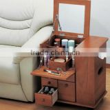 Folding New design cheap hot sale top-grade wood dressing table with mirror in brown and white                                                                         Quality Choice