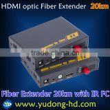 HDMI optic Fiber Extender 20Km with IR and 1080P HD-Video Over Optic-Fiber Transmitter and Receiver (FC)