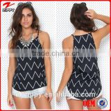 2015 sexy halter tops black tank tops latest tops designs for girls