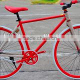 steel frame fixed gear bicycle 700c fixie bike with flip flop hub 3 speed fixed gear bike