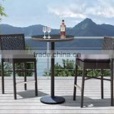 Lily Outdoor Patio Furniture plastic rattan garden white wholesale bar furniture