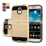 C&T Metal Texture TPU PC Dual Layer Hybrid Protective Case For Samsung Galaxy S4