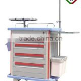 Factory direct sales medical hospital emergency treatment trolley