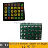 High quality export European an USA markets custom made membrane switch keypad keyboard buttons with PCB assembly service