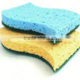 abrasive cleaning scouring pad,soft natural green scrubber cellulose sponge,eco-friendly scrub cellulose sponge