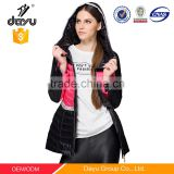 zipper Customized hooded First ultra light jacket for women,outdoor wear cool winter quilted jacket