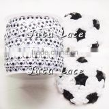 THe Flag Day elastic ribbon accessories, football style feather, mini ribbon flower material