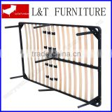 wooden slats bed base metal bed frame