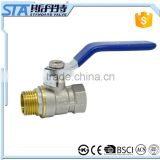 ART.1006 sanitary water isolation cw614n cw617n brass forged 2 way DN15 DN20 DN25 female and male npt ball valve price