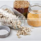 wholesale 3pcs snacks nuts food storage glass jars,food storage glass jars
