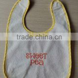 wholesale cotton plush baby bib plain white