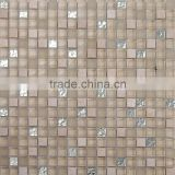 JTC-1310 backsplash decorative mosaic forsted crystal mosaic tile with stone and glass chips