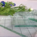 Colorful wired glass wired patterned glass 5mm Clear Wired Toughened Glass