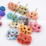 Silk Daisy Artificial Flower Bouquet For Wedding Decoration DIY Gift Box Accessories