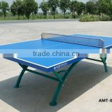 Modern Cheap design blue color outdoor rainbow shape ping- pong table
