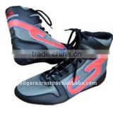 Rubber Outsole EVA Insole Black and Pink Leather and 3D Mesh Comfortable Boxing Shoes for Men