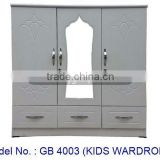 Special Design Kids Wardrobe, Small Wardrobe Cabinet, White Closet With Mirror