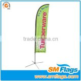 100% polyester outdoor advertising feather beach flag & high quality feather beach flags