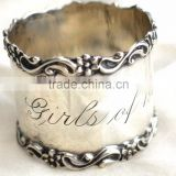 New design aluminum table decoration love napkin ring wedding gifts