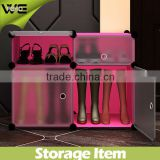 4 cube durable plastic storage cabinet colorful, waterproof dustproof shoe storage cabinet for boots and brogans