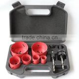 9pcs Bi-metal Hole Saw Set