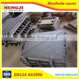 EN124 ISO9001 professional desigh of Ductile Iron Round and square OEM composite resin manhole cover