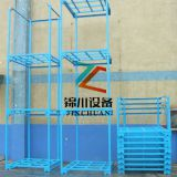 Metal Tier Rack Pallet Stacking Frames Corrosion Protection