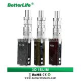 China product Bullvapor 2015 mini e cig 2200mah Islim 50W temperature control TC box vape mod