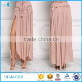 Blush ruched new arrive boho high slit maxi skirts long