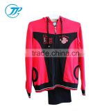 OEM Custom Tracksuits Woman Long Sleeve Sport Suits Wear Casual Set With a Hood Manufactures Factory