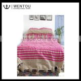 Wholesale custom plain soft bedspread
