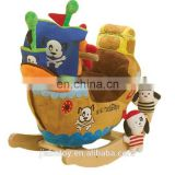 customized stuffed toy ship , Cheap baby soft plush toy Stuffed plush ship toy