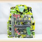 New product Plastic Camouflage police play toy set cheap toy gun