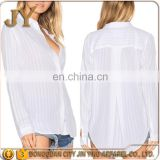 Without Linen T Shirt Long Sleeve Blouse Twill Women Blouse