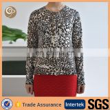 Leopard printed women cashmere sweater from scotland