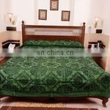 Indian Handmade Embroidery Mirror Work BedSheet Double Bedspreads Home Furnishing Royal Old mirror Bed cover Decor King Size art