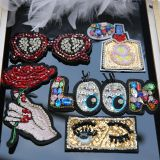 Fashion Rhinestone Embroidery 3D Patch Sequin Beads Garment Accessories
